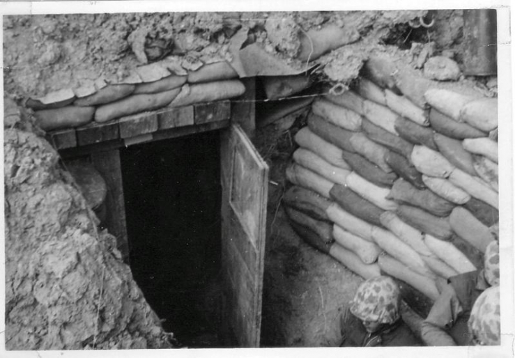 Machinegun bunker on OP Vegas Apr 1953 .jpg